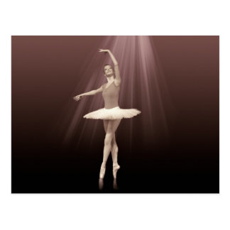Ballerina On Pointe in Russet Tint Postcard