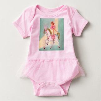 Ballerina on Pony Girls tutu bodysuit