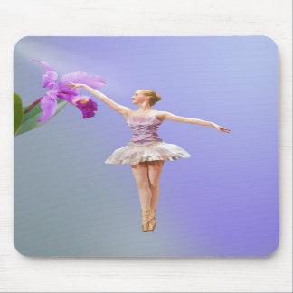 Ballerina, Orchid on Purple Mousepad