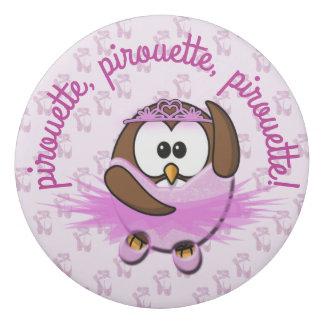 ballerina owl - eraser