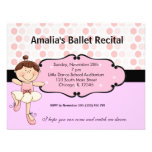 Ballerina Personalized Invites