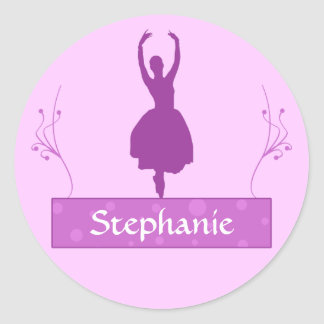 Ballerina Personalized Stickers