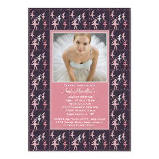 Ballerina Photo Invitation