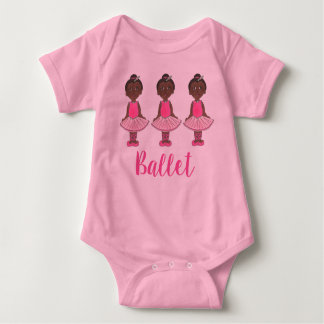 Ballerina Pink Ballet Dance Recital Girl Tutu Baby Bodysuit