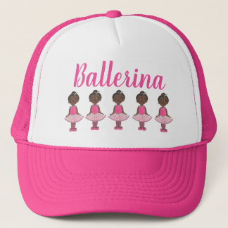Ballerina Pink Tutu Dance Recital Ballet Dancer Trucker Hat