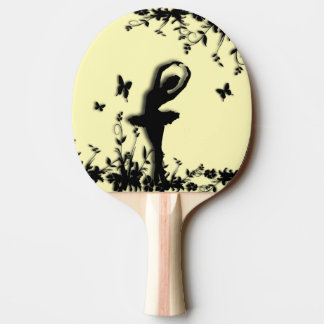 Ballerina Pirouette in Garden Yellow Ping Pong Paddle