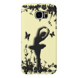 Ballerina Pirouette in Garden Yellow Samsung Galaxy S6 Cases