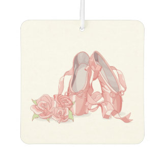 Ballerina pointe shoes and roses