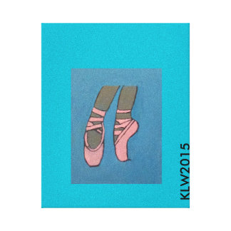 Ballerina Pointe Shoes Canvas Print