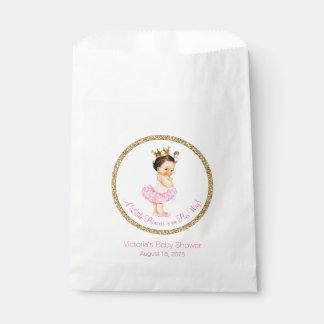 Ballerina Princess Pearls Tutu Girl Baby Shower Favour Bag