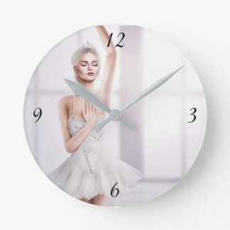 Ballerina Round Medium-Sized Wall Clock