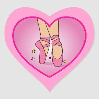 Ballerina Shoes: Heart on Heart Sticker