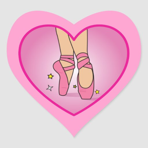 Ballerina Shoes: Heart on Heart Sticker