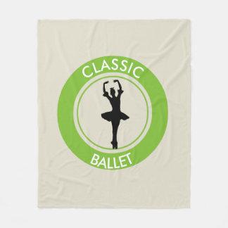 Ballerina Silhouette Fleece Blanket