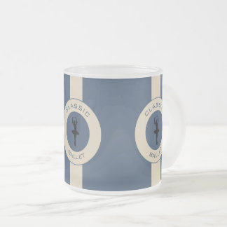 Ballerina Silhouette Frosted Glass Coffee Mug
