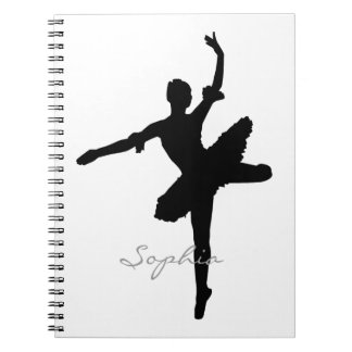 Ballerina Silhouette Notebook