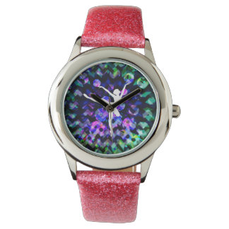 ballerina silhouette on party background wrist watches