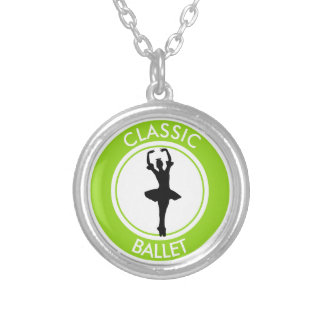 Ballerina Silhouette Silver Plated Necklace