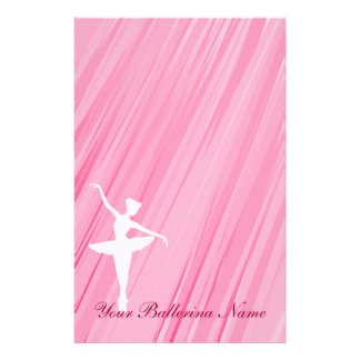 Ballerina Silhouette Stationary Paper Customized Stationery
