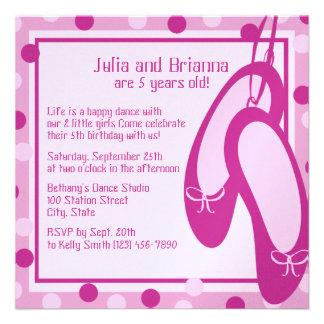 Ballerina Slippers/ Birthday Custom Invitations