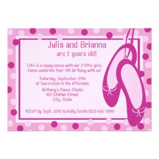Ballerina Slippers Birthday Invitation
