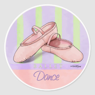 Ballerina Slippes Classic Round Sticker