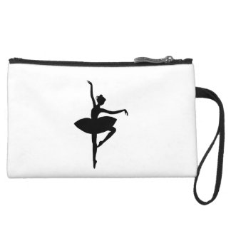 Ballerina Suede Mini Clutch Wristlet Clutches