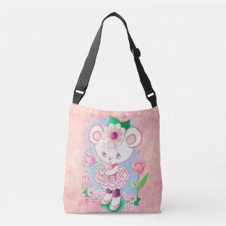 Ballerina Teddy Bear With Tulip Crossbody Bag