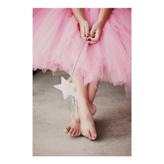 Ballerina Toes Poster