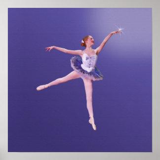 Ballerina Touching the Stars Poster