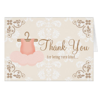 BALLERINA TUTU THANK YOU CARDS