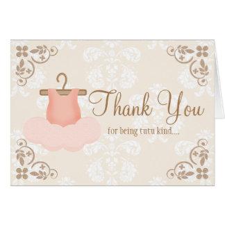 BALLERINA TUTU THANK YOU CARDS