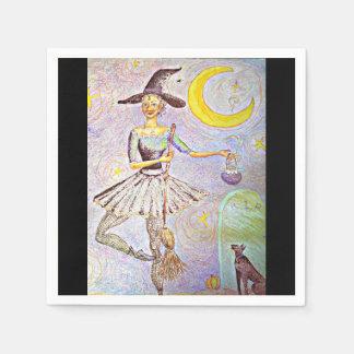 Ballerina Witch Paper Serviettes