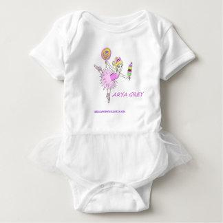 Ballerina with custom name baby bodysuit