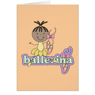 Ballerina - Yellow T-shirts and Gifts Greeting Cards