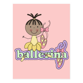 Ballerina - Yellow T-shirts and Gifts Postcard