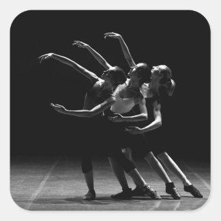 Ballerinas Beautiful Black & White Ballet Sticker