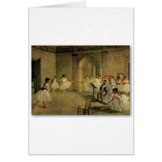 Ballerinas By Edgar Degas Card