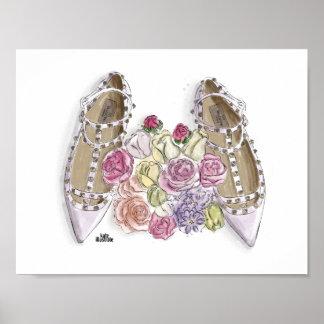 Ballerina's Dream Shoes Poster