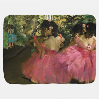 Ballerinas in Pink by Edgar Degas Baby Blanket
