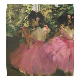 Ballerinas in Pink by Edgar Degas Bandana