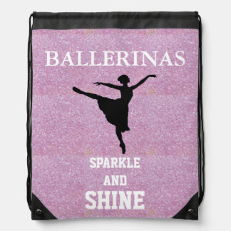 Ballerinas Sparkle & Shine Drawstring Backpack