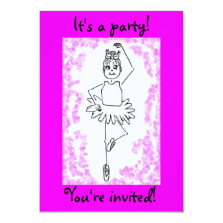 ballet 3, It's a party!, You're invited! 13 Cm X 18 Cm Invitation Card