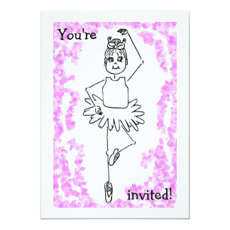 ballet 3, You're, invited! 13 Cm X 18 Cm Invitation Card