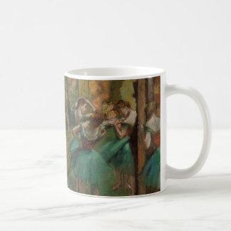 Ballet Artwork Dancers Pink and Green Edgar Degas Coffee Mug