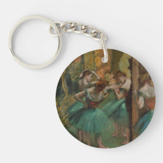 Ballet Artwork Dancers Pink and Green Edgar Degas Key Ring