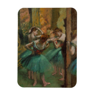 Ballet Artwork Dancers Pink and Green Edgar Degas Magnet