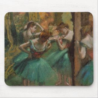 Ballet Artwork Dancers Pink and Green Edgar Degas Mouse Pad