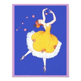 "Ballet Ballerina & Flowers PARTY INVITATION Invite 4.25"" X 5.5"" Invitation Card"