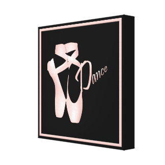Ballet Ballerina Pink Pointe Shoes Dance Print